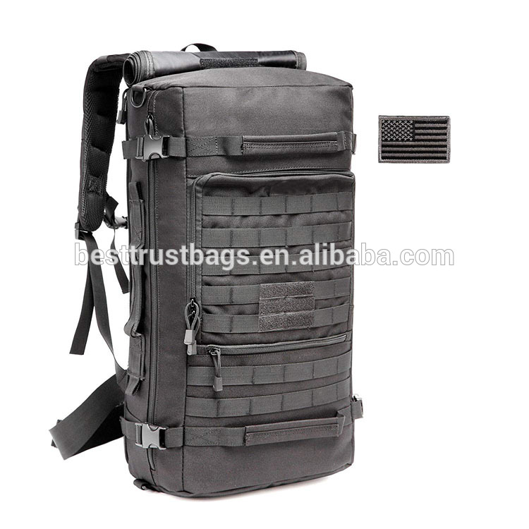 Hot Sale 50L Multi-Functional Shoulder Travel Bag Molle Waterproof Tactical Military Backpack For Hiking Hunting Camping